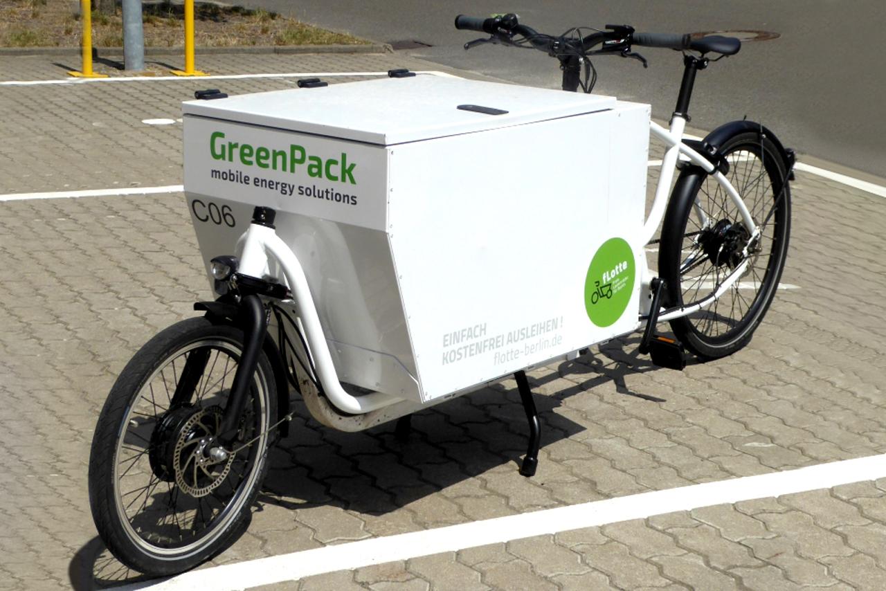 Das E-Lastenrad auf dem Campus Wilhelminenhof © Thomas Büermann
